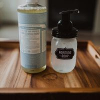 Two Ingredient Non-Toxic Homemade Foaming Hand Soap