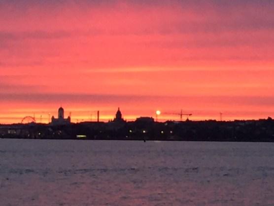 Beautiful sunset Helsinki