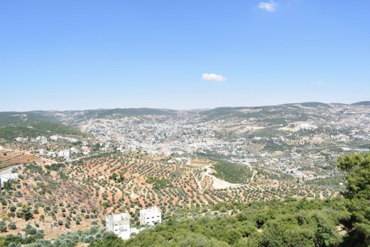 View over Ajloun
