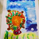 Turtle painting by Titus