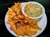 Nachos with Spinach dip