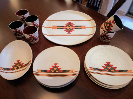 Qadeem  Coffee Set with Plates, Mugs, Cake Plate in typical Jordanian Design
