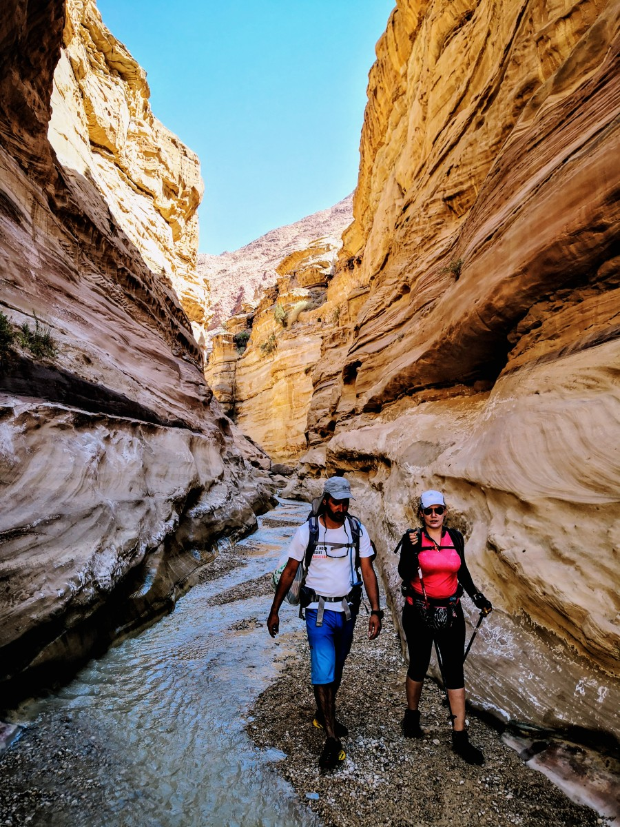 Hikers at Wadi Assal
