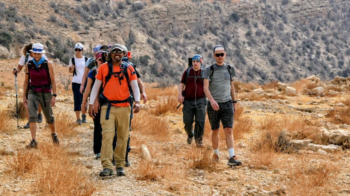 Hiking in jordan