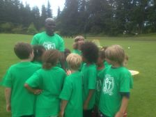 Joe coaching his camp