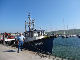 Dad in the Dingle Harbour