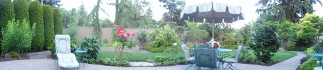 what I enjoyed most this summer-family dinners in this lovely yard