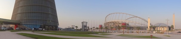 Aspire Zone (the sporty area of Doha)