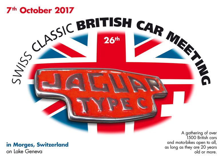 Classic British Car Meeting 7th October in Morges  Living