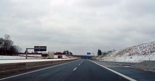 Zum Glück tobt sich der Schnee nicht auf dem Teilstück der A33 aus
