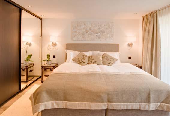 Von Rolf Zimmermann eingerichtete Ferienwohnung eines fünf Sterne Plus Ferien-Apartmenthauses in Zermatt