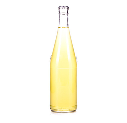 bottle of fresh lemonade