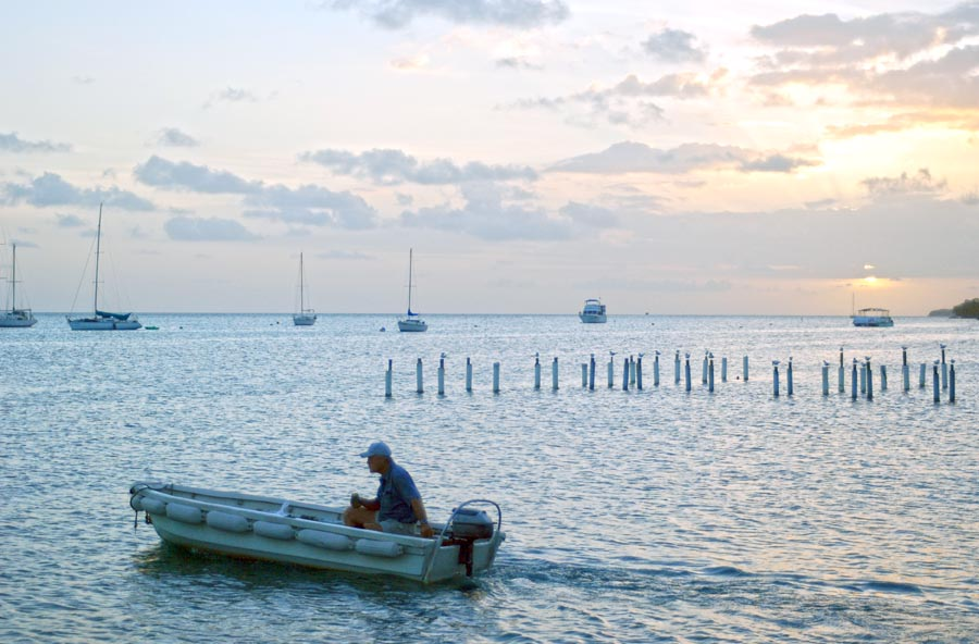 Boqueron, PR Sunset and fisherman