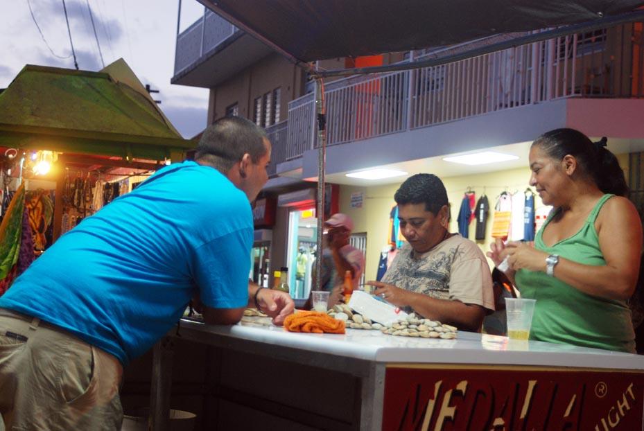 Clam stall Boqueron, PR -- Living in Puerto Rico
