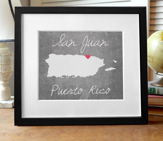 Puerto Rico island print