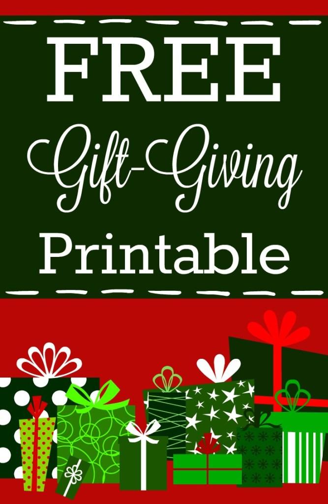 free gift giving printable