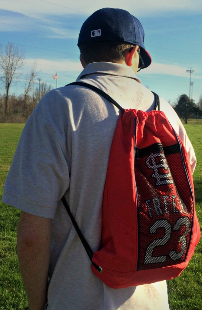 What to Wear to Cardinals Home Opener | My husband always carries my bag when we are at the ballpark, so this would be perfect.