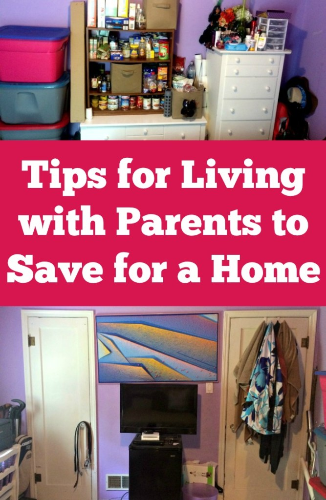 Tips for living with parents to save for a house | This is a great resource. I really need this for when we move in with my parents. Creative idea for saving money (and the tips are actually helpful).