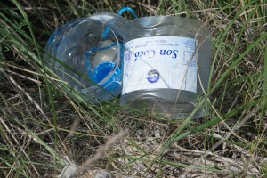 Littering the countryside