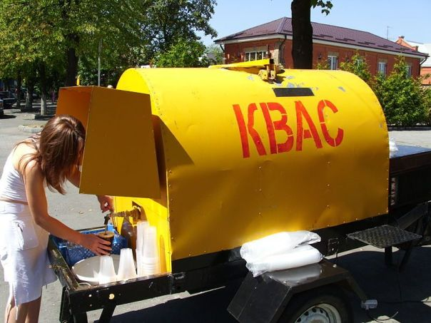 Kvass from a street wagon