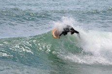 Surfing Liguria reef break