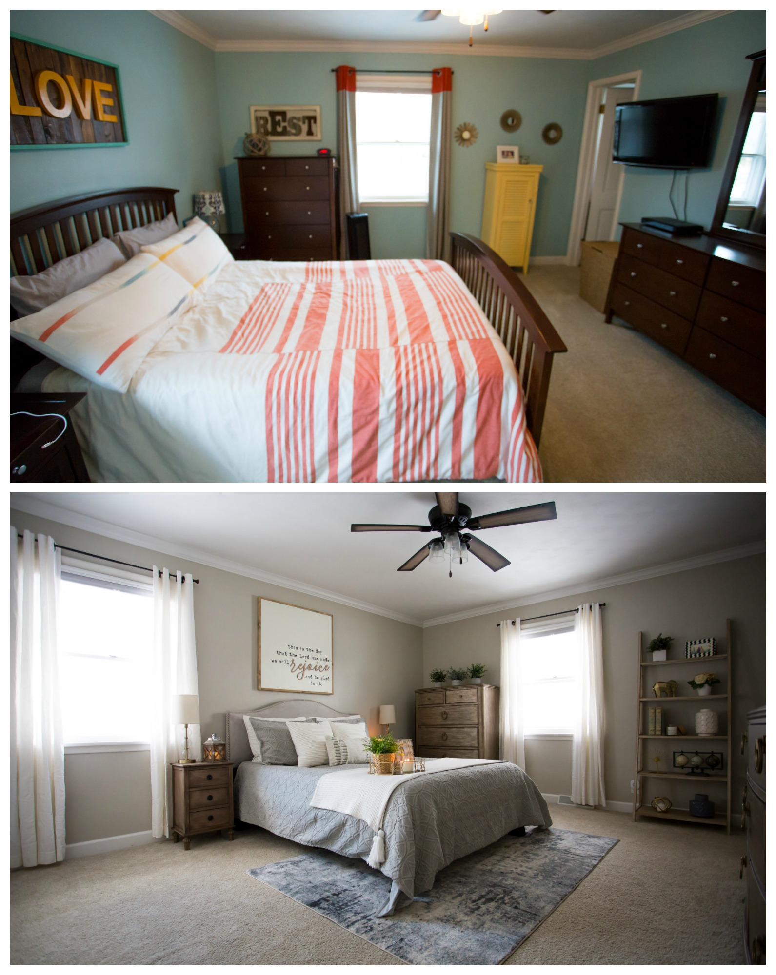 Master Bedroom Makeover  Before  After  Living in Yellow