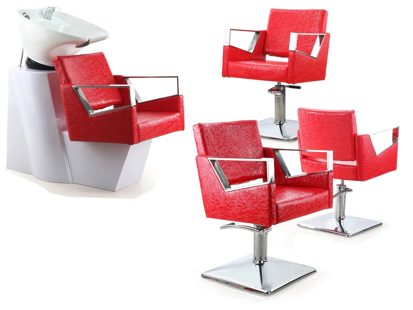Red Salon Chairs Everything You Need For A New Salon Set Up Living It Up