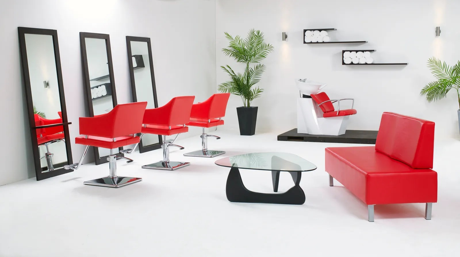 Red Salon Chairs Salon Chairs And Packages To Make Shopping Easier For You