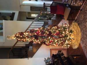 Tree in the formal living room. My friend Kristle helped me shop for the ornaments and decor for this tree last year. Thank you Kristle! I love it just as much or even more this year!