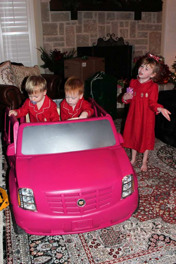 I am not sure who liked Brielle's car better, her or the Twins?
