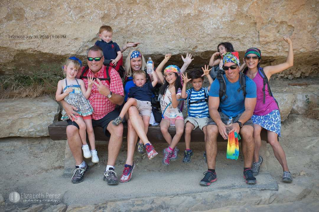 Our group of 10- The Battles and Perez Family after our hike at Mesa Verde. The photo was taken by Elizabeth Perez.