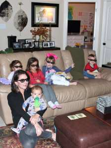 Watching the North Pole Express in 3D