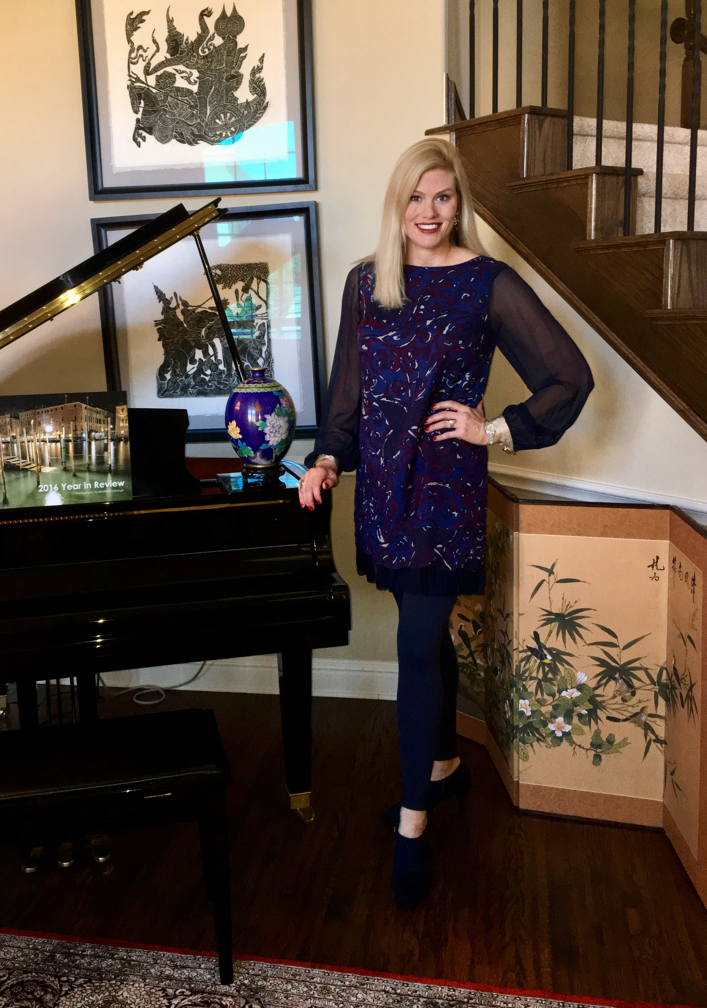 Style- Tory Burch Dress and BaubleBar Jewelry (Entire outfit