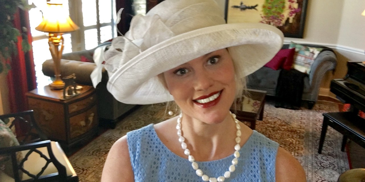 Style for Easter 2017: Lace Dresses, Sinamay Hats, and Real Pearls