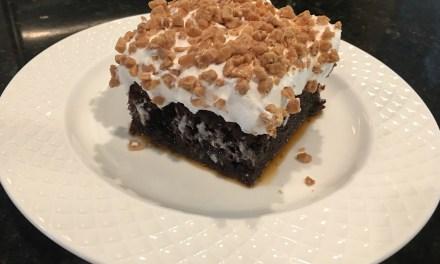 Mandy's Carmel Poke Cake