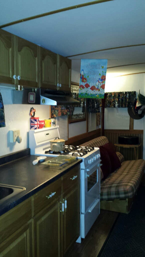 two person kitchen table discontinued cabinets living large reveals: a little caboose in the big woods ...