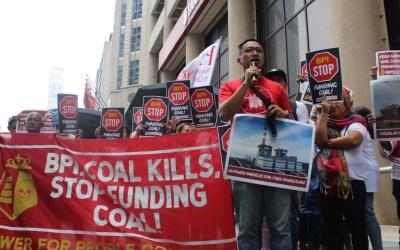 Environmental groups knock on BPI: 'Abandon coal'