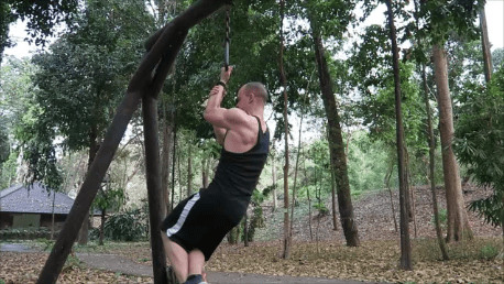 Assisted one arm chin-up uneven