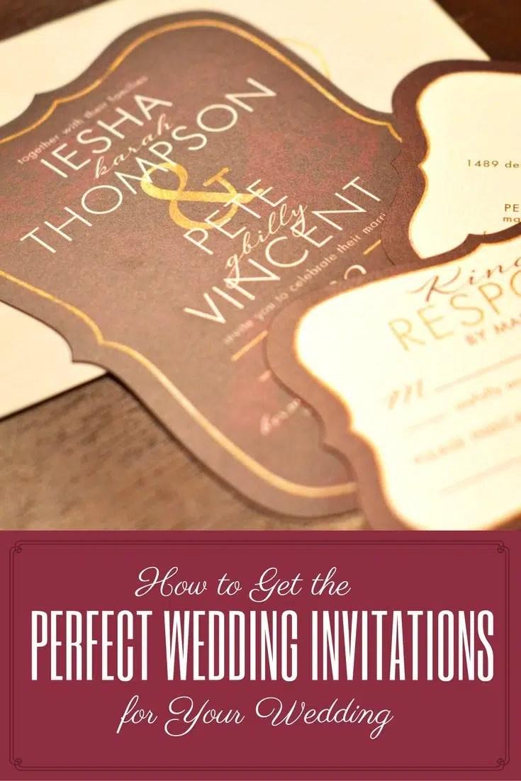 perfect wedding invitations