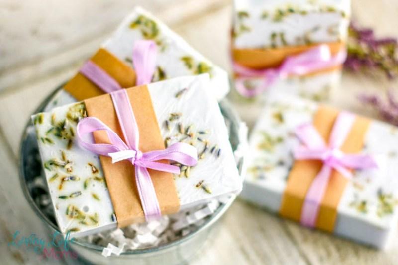 Gorgeous diy lavender soap