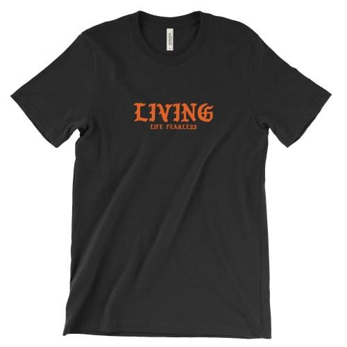 LIVING Script Tee in Black | Shop | LIVING LIFE FEARLESS