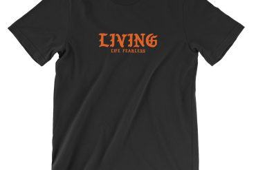 LIVING Script Tee in Black | Shop | LIVING LIFE FEARLESS