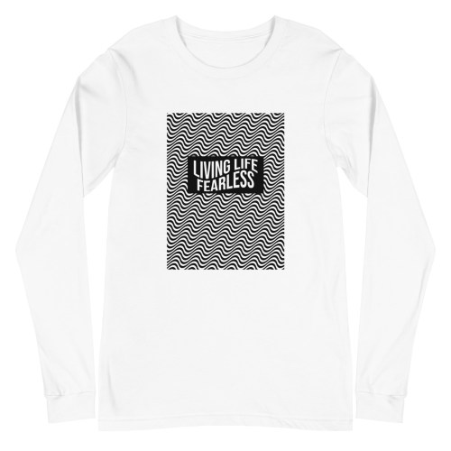 Waves Long Sleeve Tee in White | Shop | LIVING LIFE FEARLESS