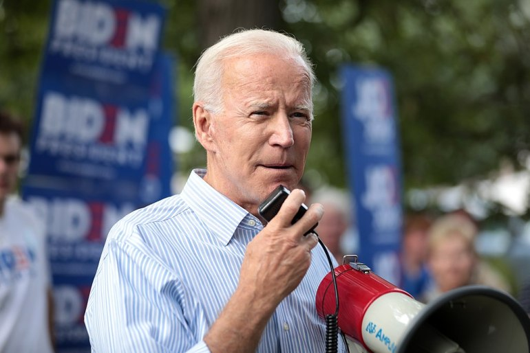"""Trump pushes tweet that implies Biden was introduced to N.W.A's """"F*** the Police"""" 
