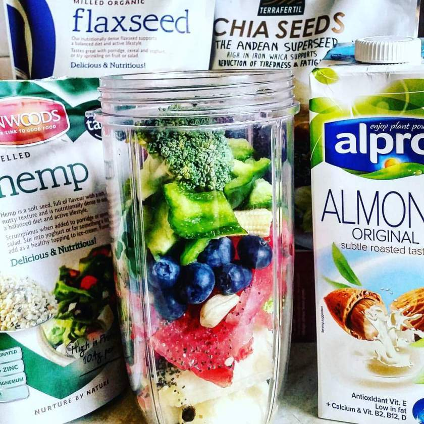 Almond milk, hemp seeds, chia seeds, nutrition, raw food, healthy eating, clean eating, blogtober, living life our way