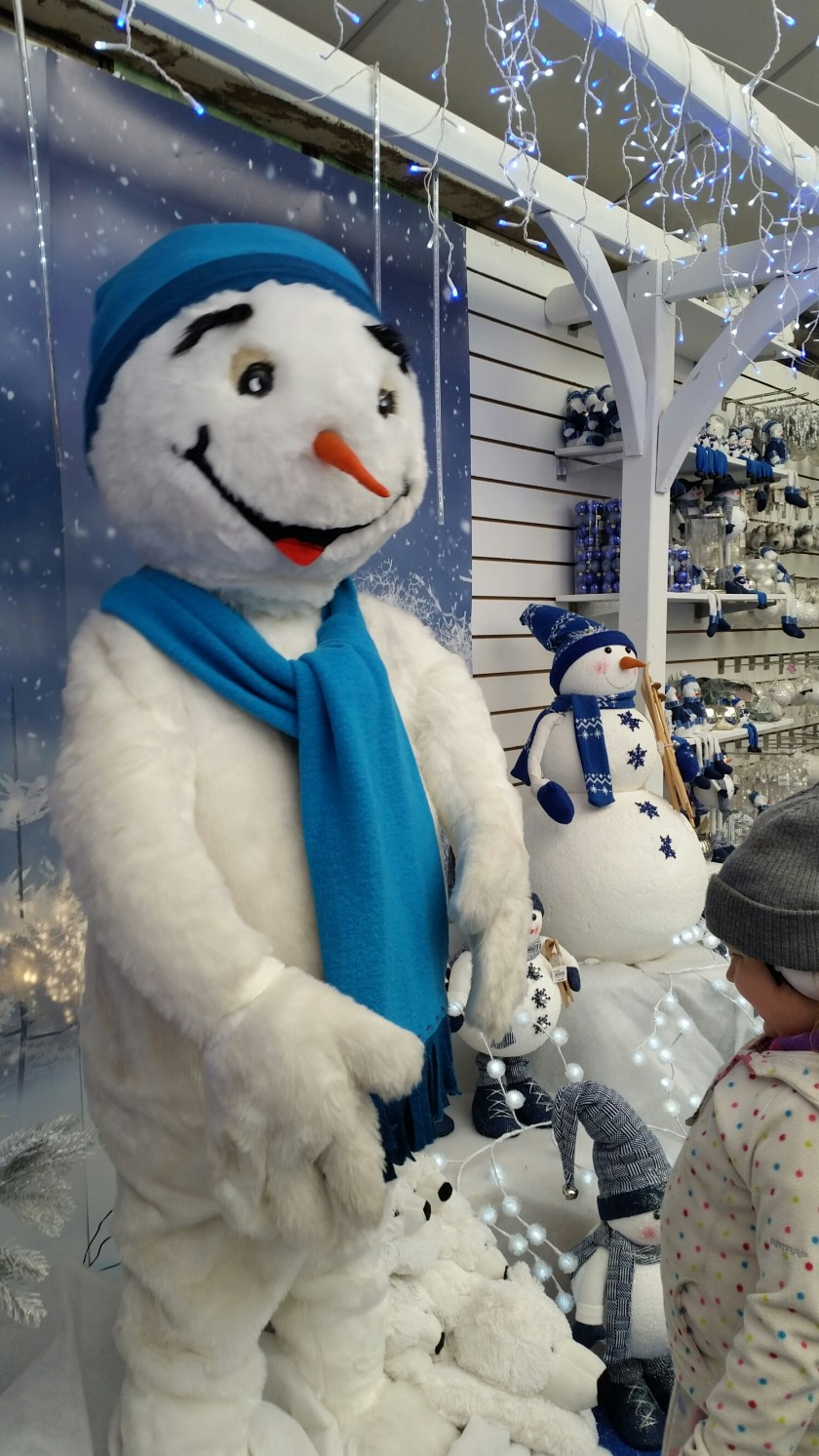 Notcutts, St Albans, Hertfordshire, Christmas, Santas Grotto, snowman