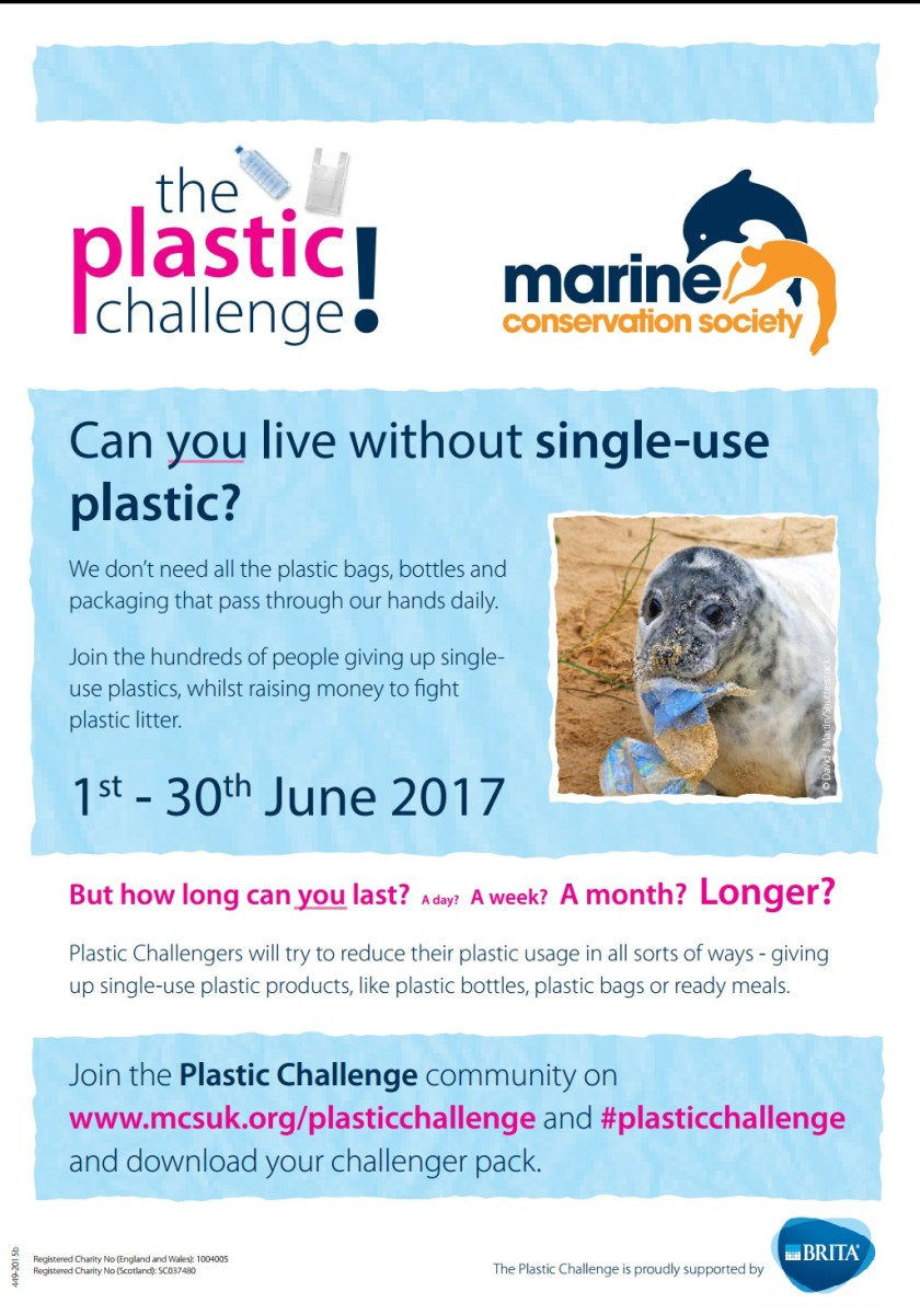 Marine Conservation Society, Plastic Challenge, environment, pollution, Living Life Our Way, 30 Days Wild, #30dayswild, #LivingLifeWild, Blue Mind