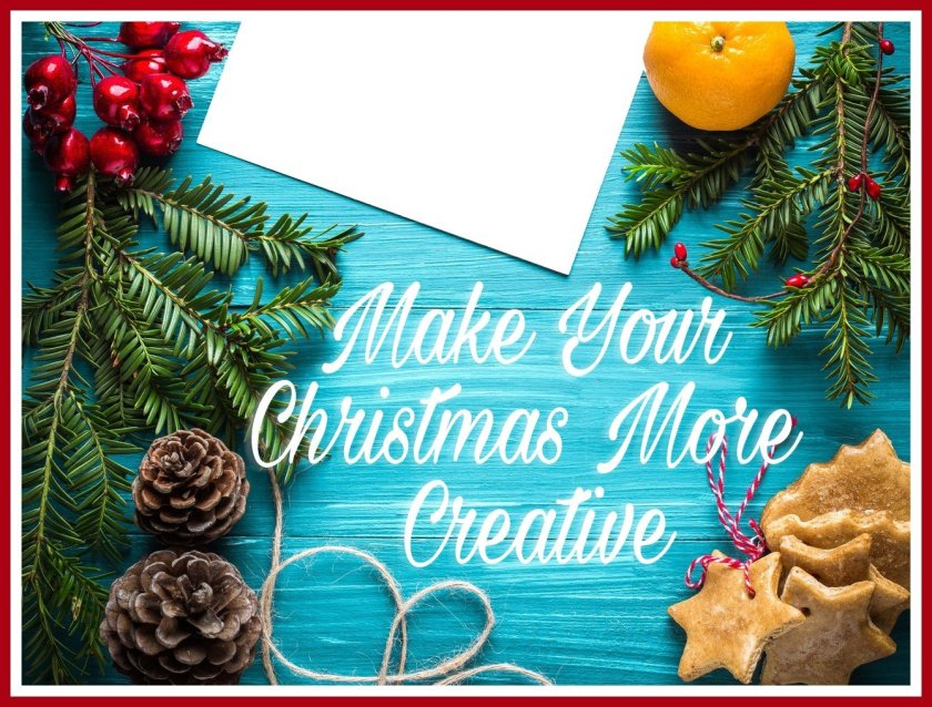 A picture of Christmas accessories on a blue background with the title written in white.
