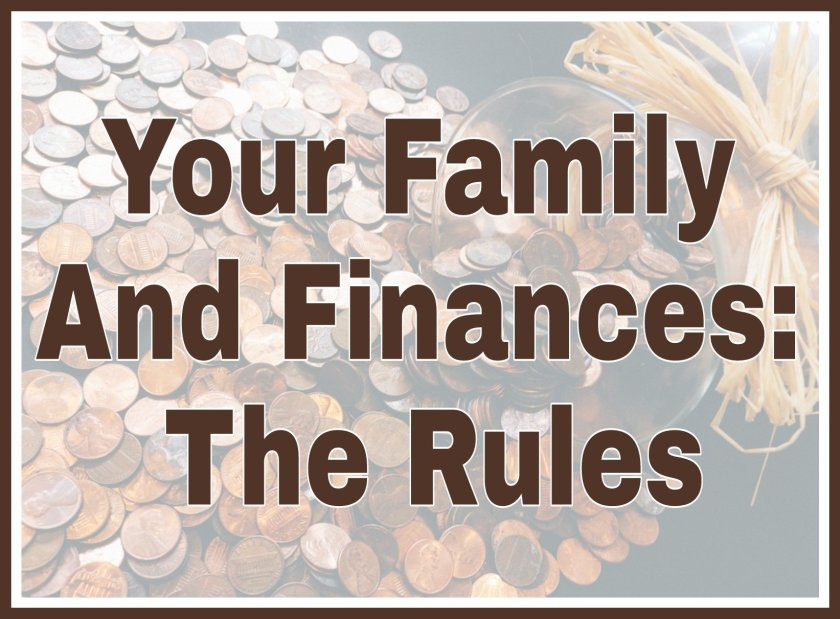 Your Family And Finances: The Rules title on faded background image of pennies
