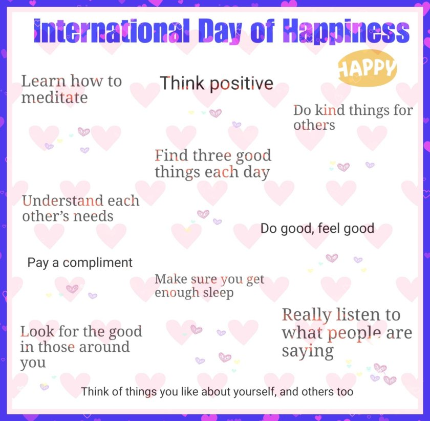 International Day of Happiness infographic